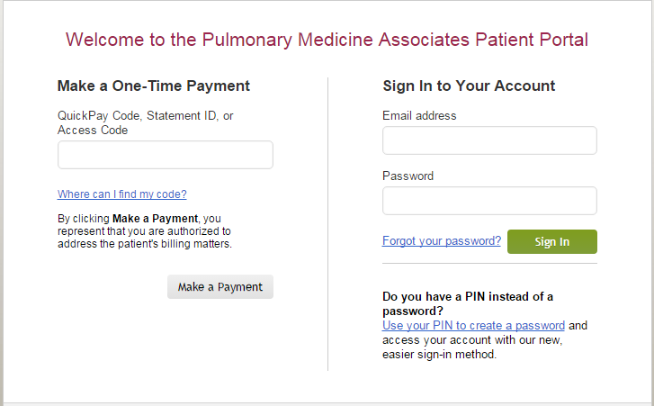Click to visit the PMA Patient Portal